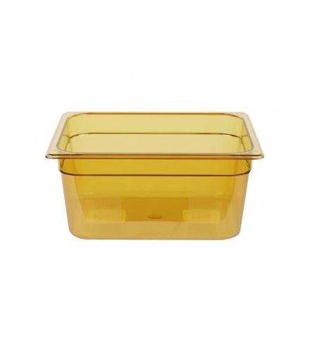 фото: Поддон для горячих продуктов Rubbermaid GN1/2 8.8л янтарный, FG225P00AMBR