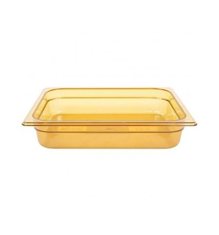 фото: Поддон для горячих продуктов Rubbermaid GN1/2 3.8л янтарный, FG223P00AMBR