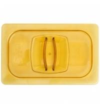 Крышка для поддона для горячих продуктов Rubbermaid GN1/4 янтарная FG214P00AMBR