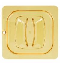 Крышка для поддона для горячих продуктов Rubbermaid GN1/6 прозрачная с отверстием для подвешивания, FG208P23AMBR