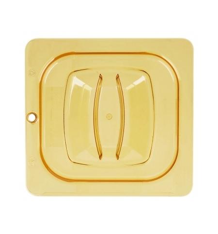 фото: Крышка для поддона для горячих продуктов Rubbermaid GN1/6 прозрачная с отверстием для подвешивания, FG208P23AMBR