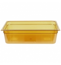 фото: Поддон для горячих продуктов Rubbermaid GN1/1 19.5л янтарный, FG232P00AMBR