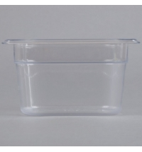 фото: Поддон для холодных продуктов Rubbermaid GN1/9 0.8л прозрачный, FG101P00CLR