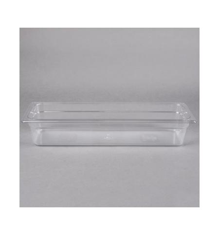 фото: Поддон для холодных продуктов Rubbermaid GN2/4 5.2л прозрачный, FG140P00CLR