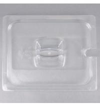 Крышка для поддона для холодных продуктов Rubbermaid GN1/2 прозрачная с пазом, FG128P86CLR