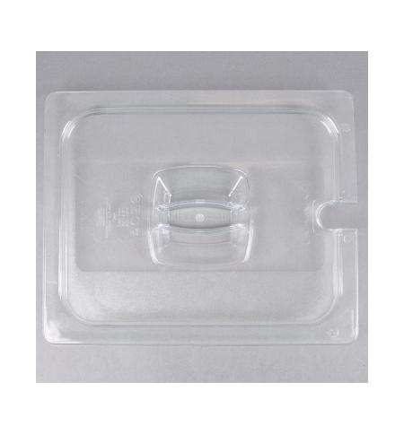 фото: Крышка для поддона для холодных продуктов Rubbermaid GN1/2 прозрачная с пазом, FG128P86CLR