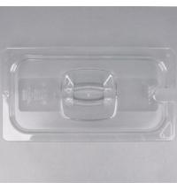 Крышка для поддона для холодных продуктов Rubbermaid GN1/3 прозрачная с пазом, FG121P86CLR
