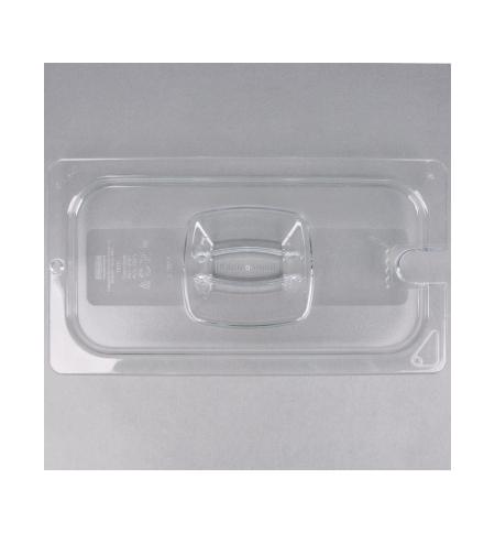 фото: Крышка для поддона для холодных продуктов Rubbermaid GN1/3 прозрачная с пазом, FG121P86CLR