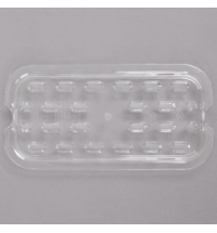 фото: Поддон для холодных продуктов Rubbermaid GN1/4 для слива прозрачный, FG113P24CLR