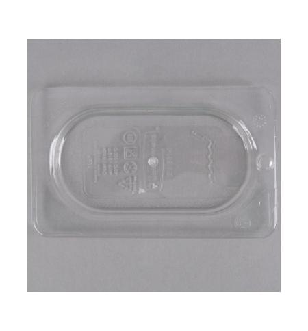 фото: Крышка для поддона для холодных продуктов Rubbermaid GN1/9 прозрачная с отверстием для подвешивания, FG102P23CLR