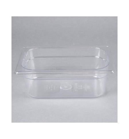 фото: Поддон для холодных продуктов Rubbermaid GN1/4 2.4л прозрачный, FG111P00CLR