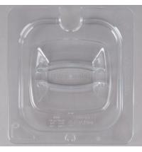 фото: Крышка для поддона для холодных продуктов Rubbermaid GN1/6 прозрачная с пазом, FG108P86CLR