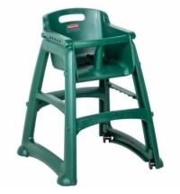 фото: Детский стул для кафе Rubbermaid Sturdy Chair зеленый пластиковый, с антибактериальной защитой, R050835