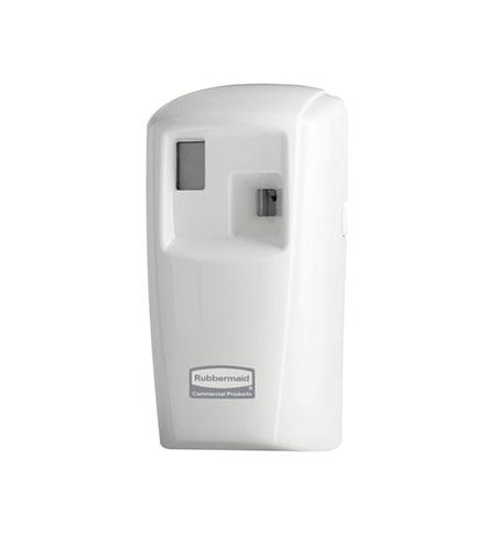 фото: Диспенсер для освежителя воздуха Rubbermaid Microburst 3000 белый 75мл, с ЖК-дисплеем, 1817131, +освежитель
