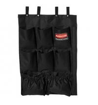 фото: Матерчатая полка с карманами Rubbermaid для всех моделей уборочных тележек черная, FG9T9000BLA