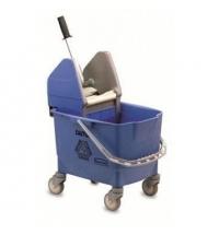 Одноведерная система с вертикальным отжимом Rubbermaid Combo Bravo 25л на колесах, без ручки, синяя, R014155