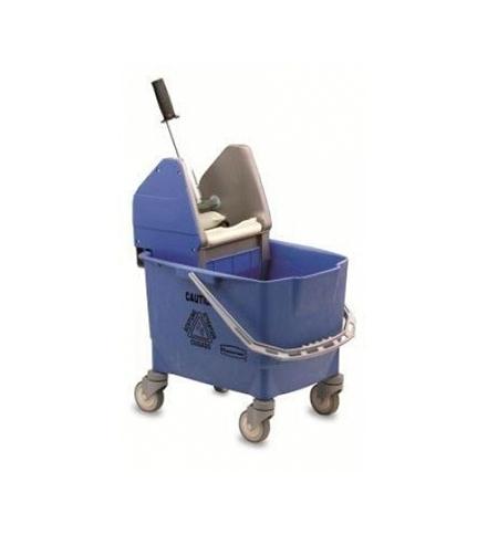 фото: Одноведерная система с вертикальным отжимом Rubbermaid Combo Bravo 25л на колесах, без ручки, синяя, R014155