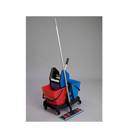фото: Двухведерный набор с отжимом Rubbermaid Duo Bravo 2х18л с шваброй и насадкой моп, R050838