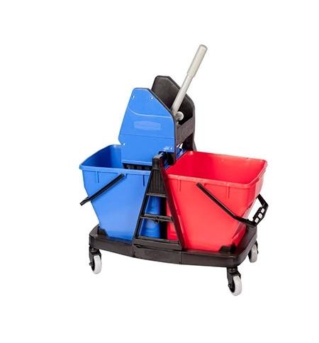 фото: Двухведерный набор с отжимом Rubbermaid Sani Duo 2х18л c отжимом и редуктором, R050795