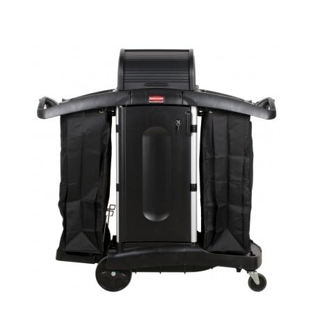 фото: Комплексная тележка Rubbermaid гостиничная повышенной безопасности, FG9T7800BLA