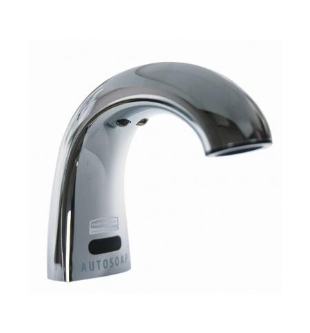 фото: Автоматический дозатор для мыла Rubbermaid OneShot металлик с технологией Smart Sensor, встраиваемый, FG401310