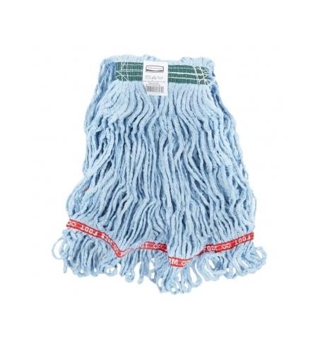 фото: Насадка для швабры моп Rubbermaid Web Foot 300г веревочная, хлопок/синтетика, синяя, FGA11106BL00