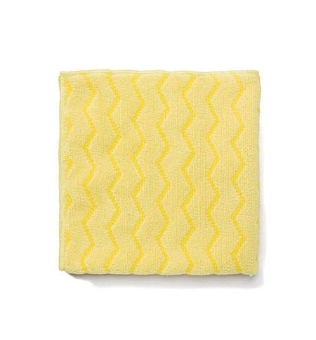 фото: Салфетка хозяйственная Rubbermaid Hygen универсальная 40х40см, микрофибра, желтая, FGQ62088YL00