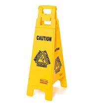 Знак Внимание. Мокрый пол Rubbermaid четырехсторонний раскладной, FG611400YEL