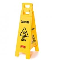 Знак Внимание. Мокрый пол Rubbermaid четырехсторонний раскладной, FG611477YEL