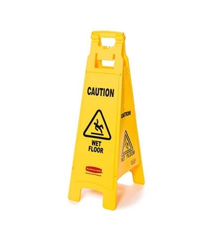фото: Знак Внимание. Мокрый пол Rubbermaid четырехсторонний раскладной, FG611477YEL
