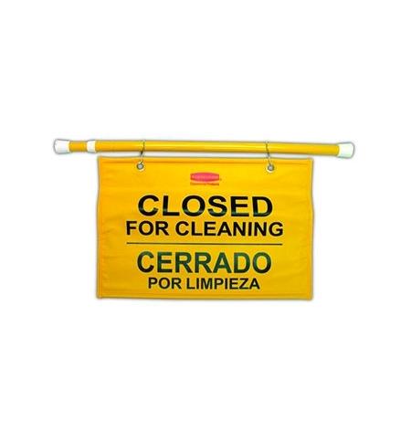 фото: Знак Закрыто на уборку Rubbermaid на штанге для дверных проемов, FG9S1600YEL