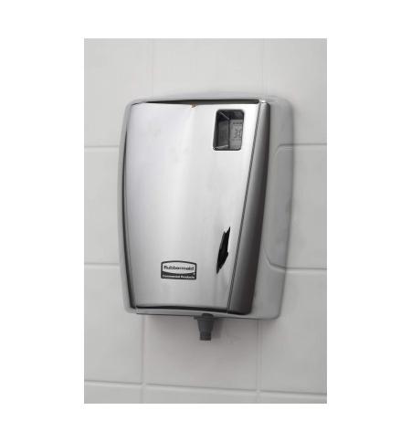 фото: Дозатор для санитарных зон Rubbermaid AutoClean металлик 300мл, для писсуаров, с ЖК-дисплеем, 1817011