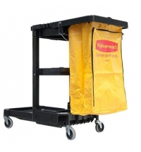 фото: Тележка уборочная Rubbermaid Janitor Cart 2000 FG617388BLA