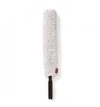 Метелка для пыли Rubbermaid Hygen 72.5см гибкая, с белой насадкой с длинным ворсом, FGQ85200WH00
