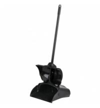 фото: Совок для мусора Rubbermaid Lobby Pro с ручкой с крышкой, черный, FG253200BLA