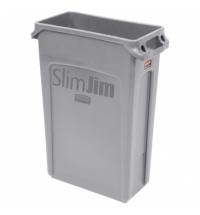 Контейнер для мусора Rubbermaid SlimJim 87л серый, с системой вентиляции, FG354060GRAY