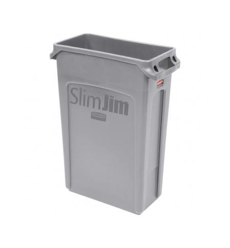 фото: Контейнер для мусора Rubbermaid SlimJim 87л серый, с системой вентиляции, FG354060GRAY