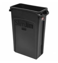 Контейнер для мусора Rubbermaid SlimJim 87л черный, с системой вентиляции, FG354060BLA