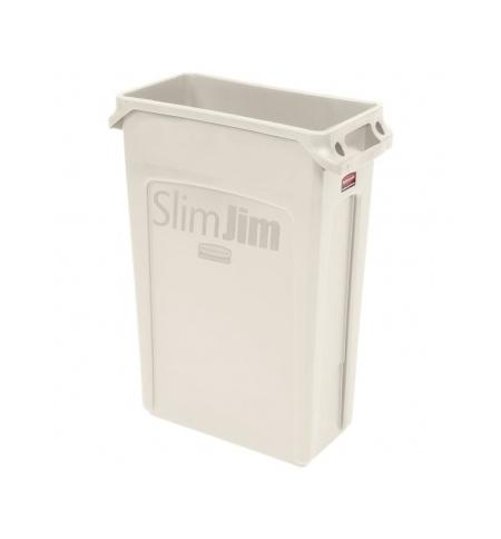 фото: Контейнер для мусора Rubbermaid SlimJim 87л бежевый, с системой вентиляции, FG354060BEIG