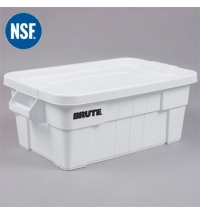 Ящики для хранения с крышкой Rubbermaid Brute Tote 53л белый, с крышкой, FG9S3000WHT