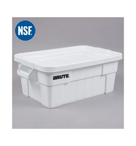 фото: Ящики для хранения с крышкой Rubbermaid Brute Tote 53л белый, с крышкой, FG9S3000WHT