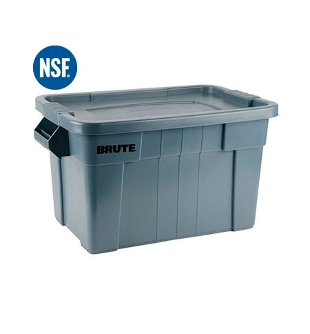 фото: Ящики для хранения с крышкой Rubbermaid Brute Tote 75.5л белый, с крышкой, FG9S3100WHT