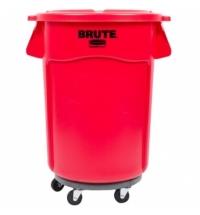 Контейнер-бак Rubbermaid Brute 166.5л красный, с системой вентиляции, FG264360RED