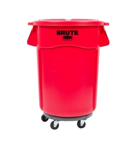 фото: Контейнер-бак Rubbermaid Brute 166.5л красный, с системой вентиляции, FG264360RED