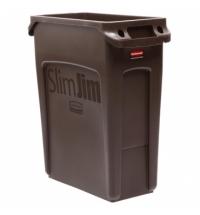 Контейнер для мусора Rubbermaid SlimJim 60л коричневый, с системой вентиляции, 1956181