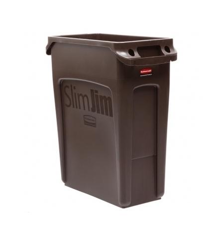 фото: Контейнер для мусора Rubbermaid SlimJim 60л коричневый, с системой вентиляции, 1956181