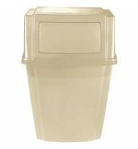Контейнер для мусора подвесной Rubbermaid SlimJim 56.8л бежевый, с крышкой, FG782200BEIG