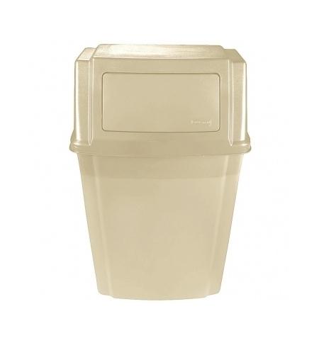 фото: Контейнер для мусора подвесной Rubbermaid SlimJim 56.8л бежевый, с крышкой, FG782200BEIG