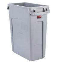Контейнер для мусора Rubbermaid SlimJim 60л серый, с системой вентиляции, 1971258