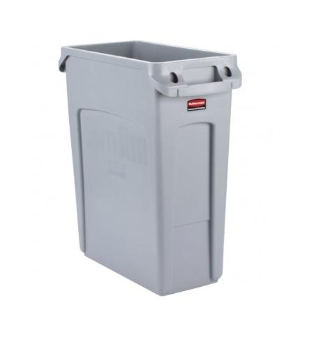 фото: Контейнер для мусора Rubbermaid SlimJim 60л серый, с системой вентиляции, 1971258